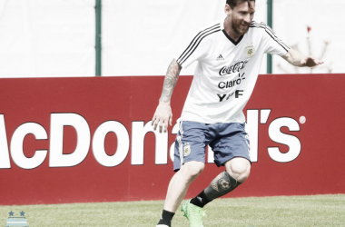 Messi, listo para enfrentar a Nigeria. Foto: @Argentina Oficial
