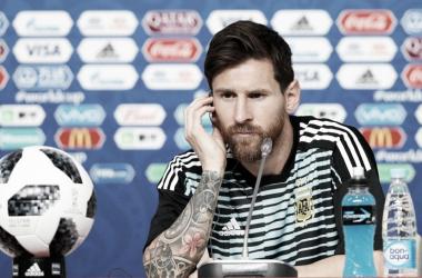 Lionel Messi en conferencia de prensa | AFA