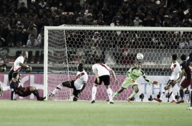 El gol de La Pulga, el que abrió el encuentro (Foto: 90 Minutos).