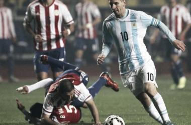 La magia de Leo ante Paraguay (Foto: Goal).