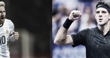 Dos gigantes del deporte argentino: Del Potro y Messi | Fotomontaje: Huaman Sosa, Vavel