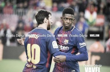 Messi y Dembelé en un encuentro con el Barça. FOTO: Noelia Déniz - VAVEL