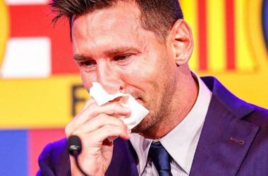 Tangis Haru Lionel Messi Di Camp Nou