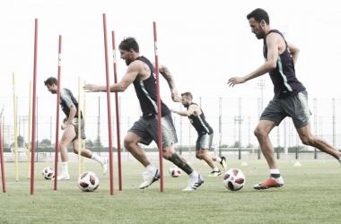 Messi, Alba, Busquets y Piqué a por todo en su primera doble sesión