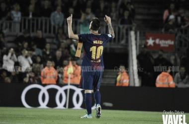 Leo Messi, al clásico como un tiro