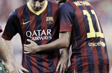 Messi ya es goleador de la Liga junto a Pedro y Diego Costa. del Atlético de Madrid   AP