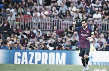Imagen de archivo. Messi en el encuentro de Champions frente al PSV | Foto: Noelia Déniz - VAVEL