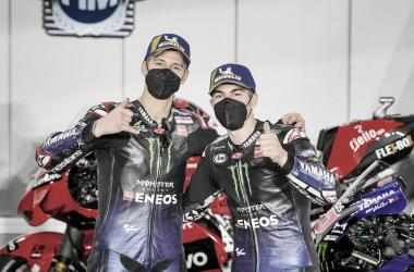 Fabio Quartararo y Maverick Viñales tras el Gran Premio de Qatar / Fuente: yamahamotogp.com