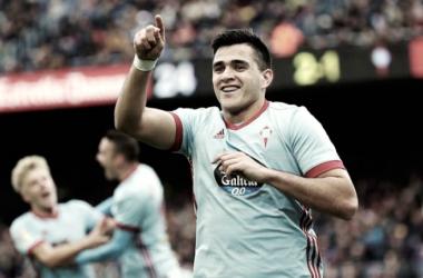 Maxi celebra su gol al Barça | Foto: Celta de Vigo
