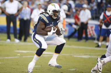 Running back Melvin Gordon could be in for a big game against Cleveland's rush defense.  Image courtesy Lenny Ignelzi, Associated Press