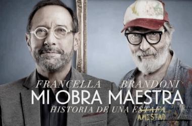 Guillermo Francella y Luis Brandoni en sus roles de Arturo Silva y Renzo Nervi. Fotografía de FM 10 Bolívar