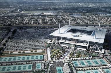 Imagen del nuevo complejo tenístico de Miami. Foto: ATP World Tour.