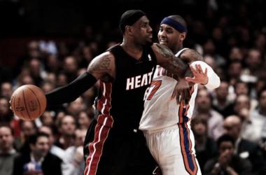La visita de los Knicks a Miami, el plato fuerte de la jornada