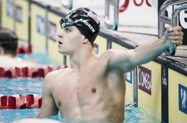 Michal Andrew tras disputar una prueba en los pasados Mundiales. / Foto: Singapore Swimming Federation