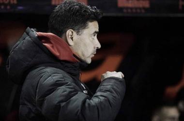 Michel durante el partido. Fotografía: Rayo Vallecano S.A.D