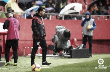 Míchel en el partido contra el Girona. Fotografía: La Liga
