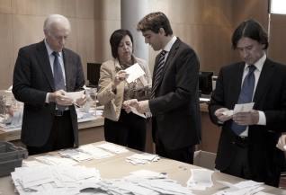 Miembros de la Junta Electoral Central. Fuente: web oficial del Instituto Nacional de Estadística (INE)