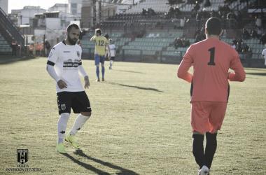 Migue Montes, autor del segundo gol romano. | Foto: Mérida AD
