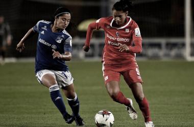 Millonarios y América empataron la ida de las semifinales de la Liga Femenina