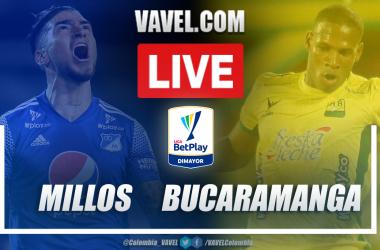Resumen Millonarios vs Bucaramanga (2-1) en la fecha 15 por Liga BetPlay 2021-I