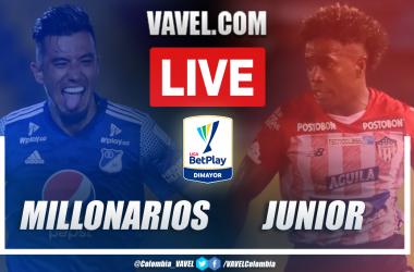 Resumen Millonarios vs Junior (2-0) en la semifinal vuelta por Liga Betplay 2021-I