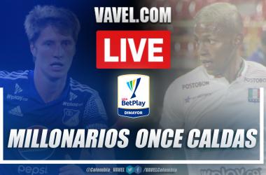 Resumen Millonarios vs Once Caldas por la Liguilla BetPlay (0-0)