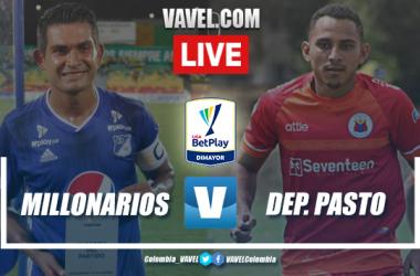Millonarios vs Deportivo Pasto EN VIVO ver transmisión en directo online en Liga BetPay (0-1)