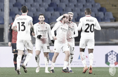 Milan tropeça diante do Genoa fora de casa, mas mantém liderança da Serie A