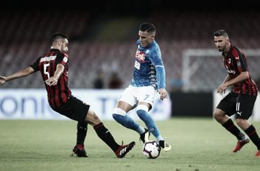 Com virada no fim, Napoli vence Milan e mantém 100% na Serie A