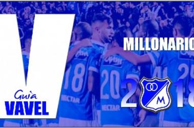 Guía VAVEL Liga Águila 2018-I: Millonarios. Edición: VAVEL Colombia.