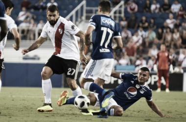 Millonarios disputó su cuarto partido amistoso. Foto: twitter River Plate.
