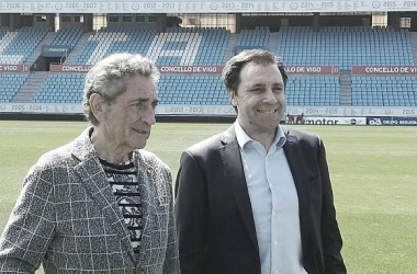 Felipe Miñambres y Mouriño en Balaídos | Fuente: RC Celta