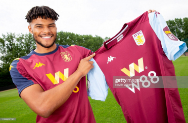 Tyrone Mings signs for Aston Villa via Getty Images