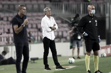"""Quique Setién valoriza vitória do Barcelona contra Athletic Bilbao: """"Custa muito ganhar esses tipos de jogos"""""""