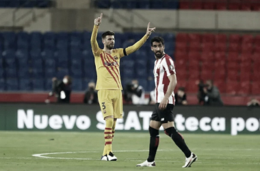 Gerard Piqué durante el partido contra el Athletic de Bilbao. | Foto: Miguel Ruiz - FC Barcelona