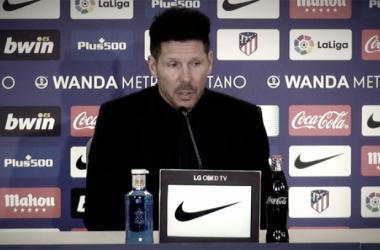 """Simeone: """"El camino es este, hicimos un buen partido"""""""