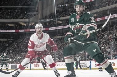 Imagen de un encuentro entre los Detroit Red Wings y los Minnesota Wild / NHL.com
