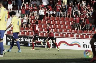 Maikel Mesa celebrando su tanto ante el Cádiz. | Foto: La Liga.