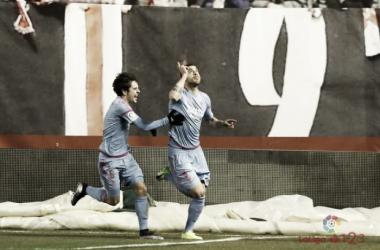 Urko Vera festejando su tanto al Rayo Vallecano. | Foto: La Liga.