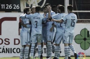 Celebración de uno de los goles || Foto: LaLiga