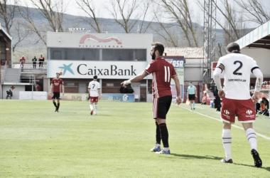 Imagen del encuentro entre el Mirandes y el Caudal Deportivo | Foto: CD Mirandés