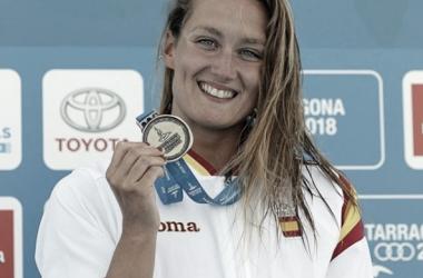 Mireia Belmonte en los Juegos Mediterráneos de Tarragona. / Foto: @missbelmont
