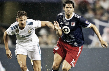 Kaka (R) in action during the 2017 MLS All-Star game against Real Madrid CF. | Photo: Major League Soccer