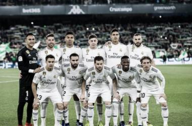 Once blanco en el Villamarín. Foto: Real Madrid C.F