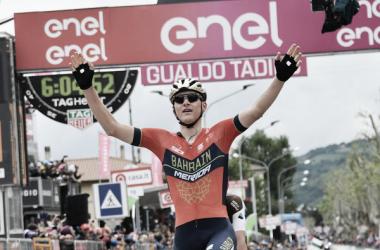Matej Mohoric vince a Gualdo Tadino.Foto Credit: LaPresse- D'Alberto / Ferrari / Paolone / Alpozzi