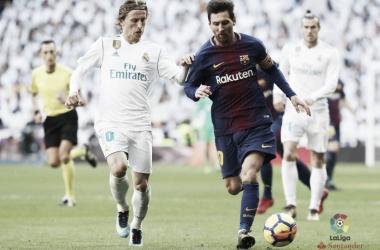 Leo Messi e Luka Modric. Fonte: LaLiga.es