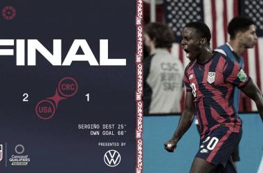 Estados Unidos se reencontró con la victoria y se afianza en zona de clasificación directa en el octogonal final de la CONCACAF | Fotografía: U.S.Soccer