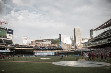 A general view of Target Field during Saturday's exhibition matchagainst Club Leon | Minnesota United FC Media Relations