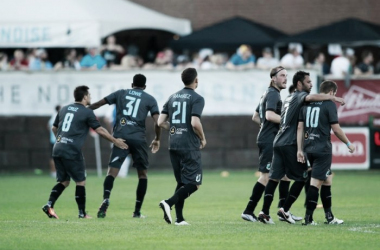 The Loons walk off the field at halftime against Miami | Minnesota United FC