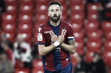 Morales es el jugador más importante del Levante. Foto: Levante.